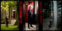 Portfolio image showing three corporate location portraits by award-winning Toronto based photographer Peter Power. Images were part of a series of images shot for the Halifax, Canada business communi