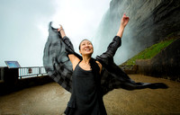 Portfolio image of Yogi Yumi Chung in the mist at the base of Niagara Falls by award-winning Toronto based photographer Peter Power.